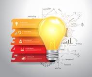 Il vettore numera le opzioni di punto con le idee della lampadina illustrazione di stock