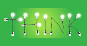 Il vettore pensa l'idea creativa della lampadina di concetto Immagine Stock Libera da Diritti