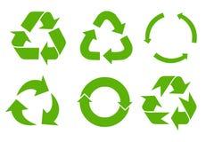 Il vettore ricicla i segni Fotografia Stock Libera da Diritti
