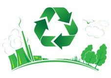Il vettore ricicla il simbolo Immagini Stock