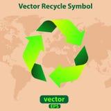 Il vettore ricicla il simbolo Fotografie Stock Libere da Diritti