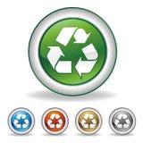 il vettore ricicla l'icona Immagini Stock