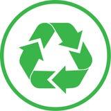 Il vettore ricicla l'icona Fotografie Stock Libere da Diritti
