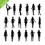 Il vettore sexy delle siluette delle donne ha messo 17 Fotografie Stock Libere da Diritti