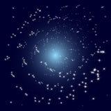 Il vettore stars la galassia a spirale illustrazione di stock