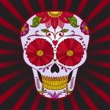 Il vettore Sugar Skull può essere usato per T-breve, borsa Fotografie Stock Libere da Diritti