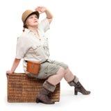 Il viaggiatore. Fotografia Stock