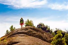 Il viaggio alla montagna Fotografia Stock Libera da Diritti
