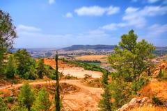 Il viaggio della caverna di Soreq Avshalom in Israel-w34 fotografia stock