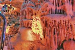 Il viaggio della caverna di Soreq Avshalom in Israele fotografia stock