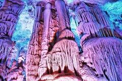 Il viaggio della caverna di Soreq Avshalom in Israele immagine stock