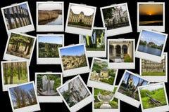 Il viaggio della miscela del collage del mosaico con le immagini dei posti, dei paesaggi e degli oggetti differenti ha sparato da Fotografia Stock