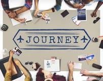 Il viaggio esplora il concetto del grafico di giro di viaggio di viaggio di viaggio Fotografia Stock