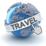 Il viaggio globale, 3d rende Immagine Stock