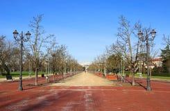 Il viale lungo nel parco pubblico ha chiamato CAMPO MARZO a Vicenza Immagine Stock Libera da Diritti
