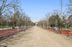 Il viale nel parco pubblico ha chiamato CAMPO MARZO a Vicenza Fotografia Stock