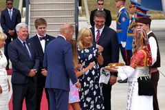 Il vicepresidente Joseph 'Joe' Biden degli Stati Uniti arriva a Belgrado Immagini Stock Libere da Diritti