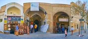 Il vicolo dei fabbri del rame di Khan Bazaar, Yazd, Iran immagini stock