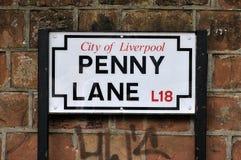 Il vicolo del penny di Beatles Fotografia Stock