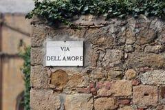 Il vicolo di amore, Pienza, Italia Immagini Stock Libere da Diritti