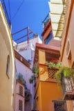 Il vicolo di bacio colorato alloggia Guanajuato Messico Immagini Stock