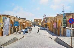 Il vicolo di Khan Bazaar, Yazd, Iran fotografie stock