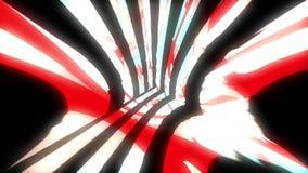 Il video del glich o l'effetto luminoso dinamico di moto nello spazio luminoso, 3d rende il fondo generato da computer illustrazione vettoriale
