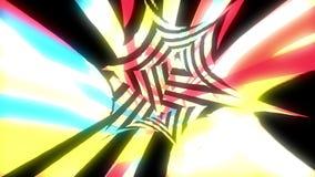 Il video del glich o l'effetto luminoso dinamico di moto nello spazio luminoso, 3d rende il fondo generato da computer royalty illustrazione gratis