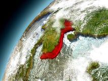 Il Vietnam dall'orbita di Earth di modello Immagine Stock