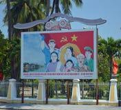Il Vietnam - Hoi An - manifesto del partito comunista Fotografia Stock