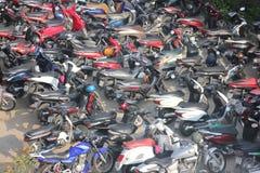 Il Vietnam, il 15 febbraio 2016 vista alta di parcheggio del motocycle Fotografia Stock Libera da Diritti