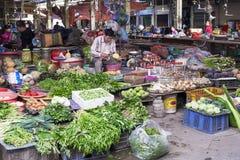 Il Vietnam, mercato del ` s di Gia Binh Farmer fotografia stock libera da diritti
