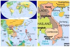 Il Vietnam & mondo Fotografia Stock Libera da Diritti