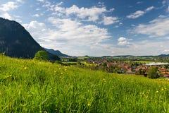 Il villaggio adorabile pfronten in Baviera Fotografia Stock Libera da Diritti