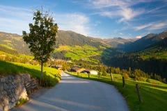 Il villaggio alpino di Alpbach e del Alpbachtal, Austria Immagini Stock Libere da Diritti