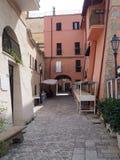 Il villaggio antico di San Felice Circeo in Italia centrale fotografie stock libere da diritti