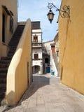 Il villaggio antico di San Felice Circeo in Italia centrale fotografia stock libera da diritti