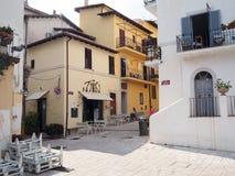 Il villaggio antico di San Felice Circeo in Italia centrale immagine stock libera da diritti
