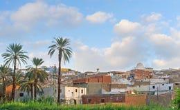 Il villaggio collinoso nell'Egitto superiore Fotografie Stock