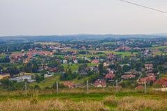 Il villaggio dall'altezza Fondo Immagini Stock Libere da Diritti