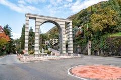 Il villaggio del d'Italia di Campione sul lago Lugano Immagini Stock Libere da Diritti