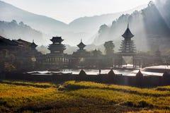 Il villaggio del Guizhou Fotografia Stock