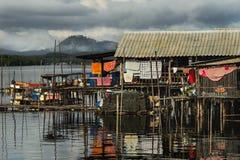 Il villaggio del pescatore Fotografia Stock Libera da Diritti
