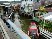 Il villaggio dell'acqua o il Kampung Ayer - villaggio su acqua in Bandar Seri Begawan, Brunei fotografie stock