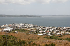 Il villaggio di Ancud alloggia - isola di Chiloe - il Cile Immagini Stock