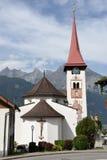 Il villaggio di Burglen sulle alpi svizzere Fotografie Stock