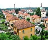 Il villaggio di Crespi Fotografia Stock