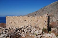 Il villaggio di Gera rimane, Tilos fotografia stock