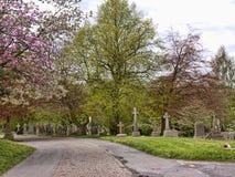 Il villaggio di Grassington nelle vallate ed in Linton Falls di Yorkshire Immagine Stock