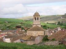Il villaggio di Hontanas in Spagna Fotografia Stock